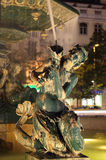 Statue at night, Lisbon Stock Images