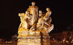 Statue at night in Rome Royalty Free Stock Photos