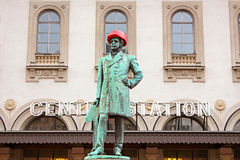 Statue of Nils Ericson in front of Central station in Stockholm, Sweden Royalty Free Stock Photography