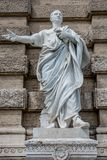 Statue of a nobel Roman lawyer Cicero, in front of the Palace of Royalty Free Stock Images