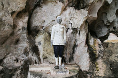Statue of Noble Man at Kao-Pina Cave Royalty Free Stock Images