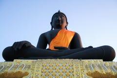 Statue noire de Bouddha Image libre de droits