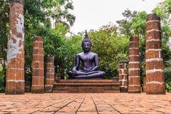 Statue noire de Bouddha Photographie stock