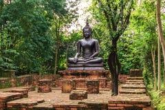 Statue noire de Bouddha Images libres de droits