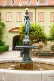 Statue in Norsk Folkenmuseum. Oslo, Norway-August 13, 2014 - Outdoor statue exhibition at Norsk Folkemuseum stock image