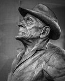 Statue of Norwegian Immigrant Man with Hat Royalty Free Stock Photography