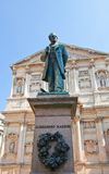 Statue of novelist Alessandro Manzoni (1883). Milan, Italy. Monument for Alessandro Francesco Tommaso Manzoni (1785-1873), Italian poet and novelist. Made by Royalty Free Stock Image