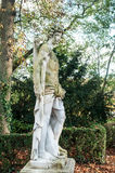 Statue of nude man in Wallach french park. In Mulhouse Royalty Free Stock Images