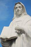 A Statue of a Nun. A Generic White Statue of a Nun stock photo