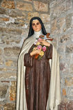 Statue of a nun in Loubressac church Royalty Free Stock Photography