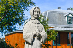Statue of a Nun in Mercier Royalty Free Stock Photos