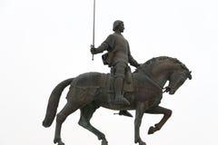 Statue of Nuno Alvares Pereira. Statue of King Nuno Alvares Pereira riding to battle on a horse, Batalha, Portugal Stock Photos