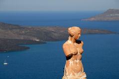 Statue of a nymph in Greece Stock Photos