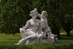 Statue of Nymphs at Rosenstein castle in Stuttgart Stock Photo