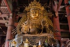 Statue of Nyoirin Kannon, of Todai-ji Temple. Statue of Nyoirin Kannon, in the daibutsuden, great buddha hall of Todai-ji Temple. Todai-ji or known as Great Stock Photography