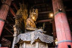 Statue of Nyoirin Kannon, of Todai-ji Temple. Statue of Nyoirin Kannon, in the daibutsuden, great buddha hall of Todai-ji Temple. Todai-ji or known as Great Royalty Free Stock Photos