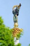 Statue oben auf Spalte monoment zur Unabhängigkeit stockbilder
