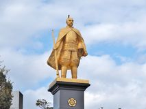 Statue of Oda Nobunaga. Gifu, Japan - February 18, 2017: Statue of Oda Nobunaga at Gifu station, Japan. He was a powerful Daimyo of Japan in the late 16th Royalty Free Stock Images
