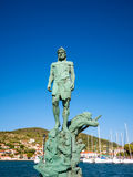 The statue of Odysseus Stock Images
