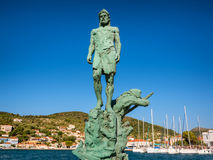 The statue of Odysseus Stock Photography
