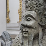 Statue Of A Chinese Warrior Near An Entrance Of Wat Pho. Wat Pho Is A Buddhist Temple Complex In The Rattanakosin District Of Ban Royalty Free Stock Photo