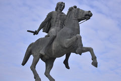 Statue Of Alexander The Great, Thessaloniki, Greece Royalty Free Stock Photo