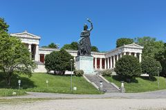 Free Statue Of Bavaria In Front Of Ruhmeshalle Hall Of Fame In Munich, Germany Stock Image - 135976531