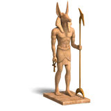 Statue Of Egyptian God Anubis Royalty Free Stock Image