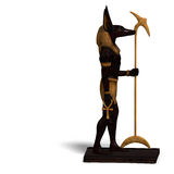 Statue Of Egyptian God Anubis Royalty Free Stock Photography