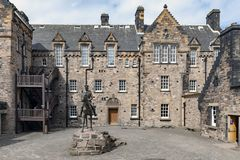 Free Statue Of Field Marshal Earl Haig Situated Outside The National War Museum At Hospital Square In Edinburgh Castle, Scotland, UK Royalty Free Stock Photos - 121200518