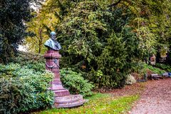 Statue Of Historical Figure Potgieter In Zwolle Stock Photo