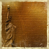 Statue Of Liberty In The Abstract Background Stock Photos
