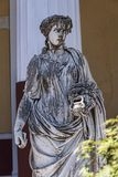 Statue Of Muse On The Terrace At The Achilleion Palace On The Island Of Corfu Greece Built By Empress Elizabeth Of Austria Sissi Royalty Free Stock Photos