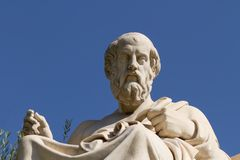 Statue Of Plato In Greece Stock Image