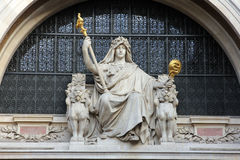 Free Statue Of Prudence On The BNP Building In Paris Royalty Free Stock Images - 83362799