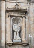 Statue Of Saint Francis On The Front Of The Chiesa Di San Francesco D`Assisi, Piazza Della Liberta, Ostuni, Italy Stock Image