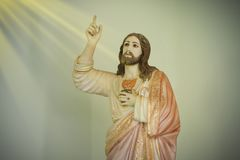 Free Statue Of The Sacred Heart Of Jesus Royalty Free Stock Photography - 163564827