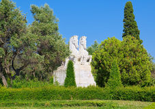 Free Statue Of Two Horses In Park Of Lisbon, Portugal Stock Image - 61143001