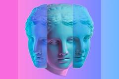 Free Statue Of Venus De Milo. Creative Concept Colorful Neon Image With Ancient Greek Sculpture Venus Or Aphrodite Head Stock Photos - 178681523