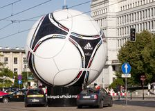 Statue of official Euro 2012 ball Tango 12 Stock Photo