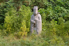 Ancient Stone Statue of Official, Song Dynasty Tombs, China Stock Photos