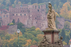 Statue of the old bridge Stock Photography