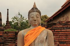 Statue01. The old Buddha image in Thailand is beautiful and long history Royalty Free Stock Photo