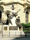 Statue in the Old City of Bucharest Stock Photo