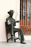 Statue of an old Cuban man Royalty Free Stock Images