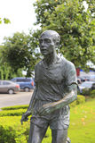 Statue of a old male marathon  runner Royalty Free Stock Image