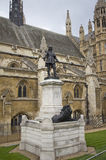 Statue of Oliver Cromwell Royalty Free Stock Photography