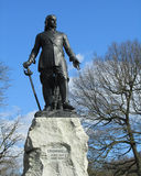 Statue Oliver Cromwell. A statue of Oliver Cromwell, an english military and political leader of the 17th century. The statue is situated in Wythenshawe Park in Royalty Free Stock Photo