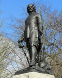 Statue Oliver Cromwell. A statue of Oliver Cromwell, an english military and political leader of the 17th century. The statue is situated in Wythenshawe Park in Royalty Free Stock Images