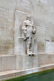 Statue of Oliver Cromwell in `Reformation Wall` Royalty Free Stock Images